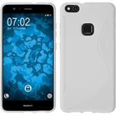 Silicone Case P10 Lite S-Style white + protective foils