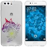 Huawei P10 Plus Silicone Case floral M2-5