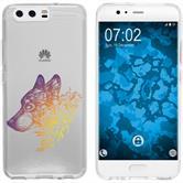 Huawei P10 Plus Funda de silicona floral M3-3