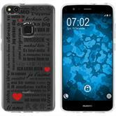 Huawei P10 Lite Silikon-Hülle in Love  M4