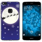 Huawei P10 Lite Silikon-Hülle X Mas Weihnachten  M4