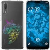 Huawei P20 Custodia in Silicone floral  M2-4