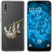Huawei P20 Silicone Case vector animals sloth M6