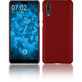 Hardcase P20 rubberized red Case