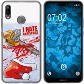 Huawei P20 Lite Silicone Case Christmas X Mas M8
