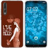 Huawei P20 Pro Silikon-Hülle in Love  M3