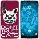 Huawei P20 Pro Silicone Case Crazy Animals M1