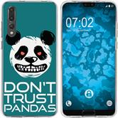 Huawei P20 Pro Silicone Case Crazy Animals Panda M2