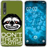 Huawei P20 Pro Silicone Case Crazy Animals sloth M3