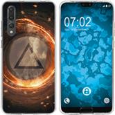 Huawei P20 Pro Silicone Case Element fire M3