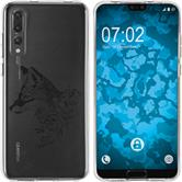 Huawei P20 Pro Silicone Case floral Fox M1-1