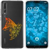 Huawei P20 Pro Silicone Case floral Fox M1-2