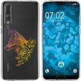 Huawei P20 Pro Silicone Case floral Fox M1-3