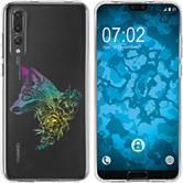 Huawei P20 Pro Silicone Case floral Fox M1-4