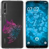 Huawei P20 Pro Silicone Case floral M2-6