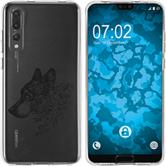 Huawei P20 Pro Silicone Case floral M3-1