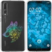 Huawei P20 Pro Silicone Case floral M3-4