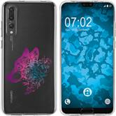 Huawei P20 Pro Silicone Case floral M3-6