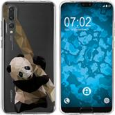 Huawei P20 Pro Silicone Case vector animals Panda M4