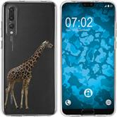 Huawei P20 Pro Silicone Case vector animals M8