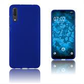 Silikon Hülle P20 matt blau Case