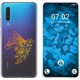 Huawei P30 Silicone Case floral Fox M1-3