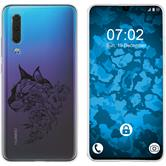 Huawei P30 Silicone Case floral M2-1