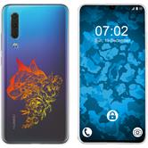 Huawei P30 Custodia in Silicone floral  M2-2