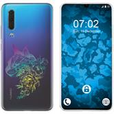 Huawei P30 Silicone Case floral M2-4