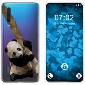 Huawei P30 Silicone Case vector animals Panda M4