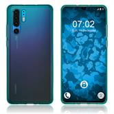 Silicone Case P30 Pro transparent turquoise Cover
