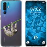 Huawei P30 Pro Silicone Case vector animals sloth M6