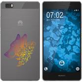 Huawei P8 Lite 2015 (1.Gen.) Funda de silicona floral M3-3
