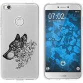 Huawei P8 Lite 2017 Funda de silicona floral M3-1