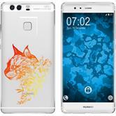Huawei P9 Plus Funda de silicona floral M2-2
