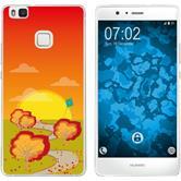 Huawei P9 Lite Coque en Silicone automne M2