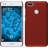 Hardcase P9 Lite Mini rubberized red Case