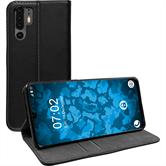 Artificial Leather Case P30 Pro Bookstyle black Cover