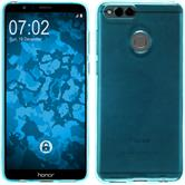 Silicone Case Honor 7x transparent turquoise Case