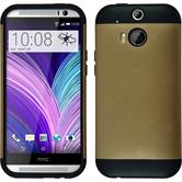 Hybrid Case for HTC One M8  gold