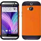 Hybrid Case for HTC One M8  orange