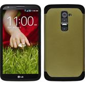 Hybrid Case for LG G2 ShockProof gold