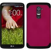 Hybrid Case for LG G2 ShockProof hot pink