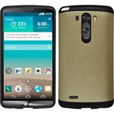 Hybrid Case for LG G3 ShockProof gold
