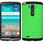 Hybrid Case for LG G3 ShockProof green