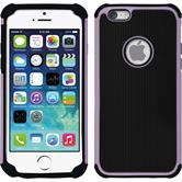 Hybrid Hülle iPhone 6s / 6 ShockProof Hexagon rosa
