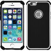Hybrid Hülle iPhone 6s / 6 ShockProof Hexagon weiß