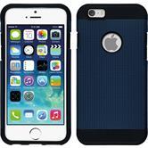Hybrid Hülle iPhone 6s / 6 ShockProof Holes grau