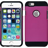 Hybrid Hülle iPhone 6s / 6 ShockProof Holes pink