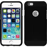 Hybrid Hülle iPhone 6s / 6 ShockProof Holes schwarz